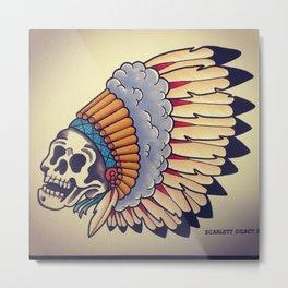 Chief Skullington Metal Print