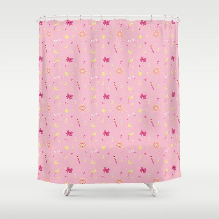 Sailor Moon Pattern Shower Curtain
