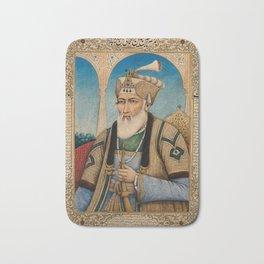 An elderly high ranking member of a Mughal court. Gouache painting by an Indian painter. Bath Mat