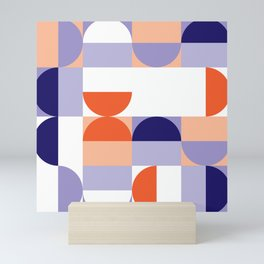 Minimal Bauhaus Semi Circle Geometric Pattern 1 - #bauhaus #minimalist Mini Art Print