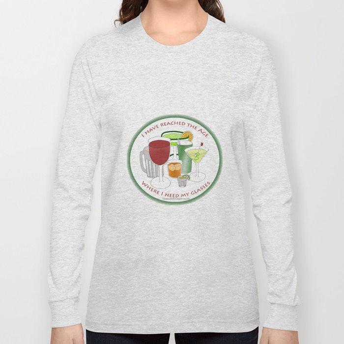 I Need My Glasses - Zentangle Illustration Long Sleeve T-shirt
