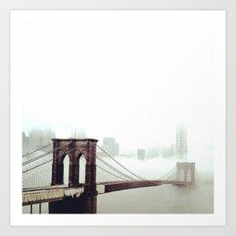 Manhattan lost in Fog Art Print