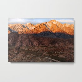 Mount Whitney & Alabama Hills, California Metal Print