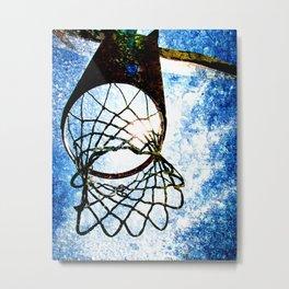 Basketball art spotlight vs 3 Metal Print