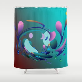 Power and positive energy, 10 Shower Curtain