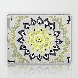 Lemon & Charcoal Lace Laptop & iPad Skin