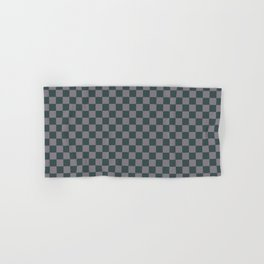 Checkerboard Pattern Inspired By Night Watch PPG1145-7 & Magic Dust Purple PPG13-2 Hand & Bath Towel