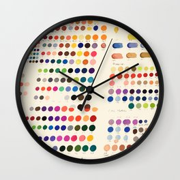 Artist Color Swatches - watercolor, prisma, paints Wall Clock