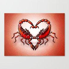 Loving Scorpions Canvas Print