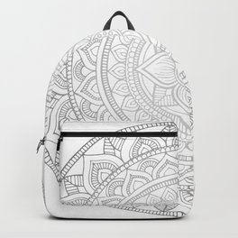 Bali Mandala - Neutral Grey Backpack