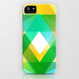 Geometric Grenn yellow triangles Summer iPhone Case