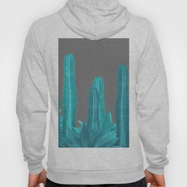 Agave Cactus Turquoise - grey Hoody