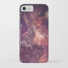 wolf and sky iPhone Case