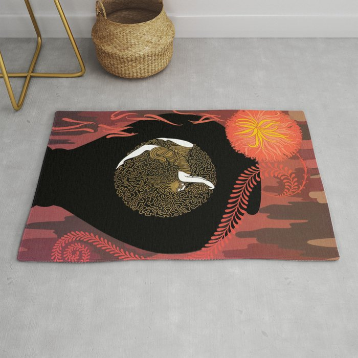 """c51c5f643 Art Deco Design """"Autumn Song"""" Rug by patriciannek 