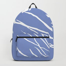 Tree Silhouette Periwinkle Blues Backpack