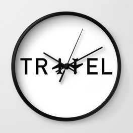 Travel and enjoy Wall Clock