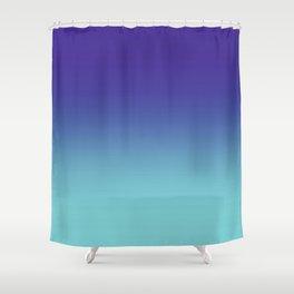 Purple Aqua Ombré Gradient Abstract Shower Curtain