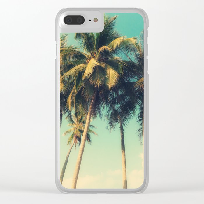 tropical trees in florida Clear iPhone Case