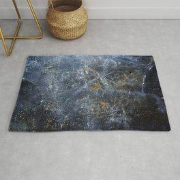 Abstract Signs on Dark Metal Rug