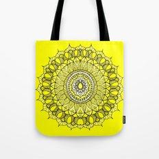 Yellow Sunshine Bohemian Mandala Tote Bag