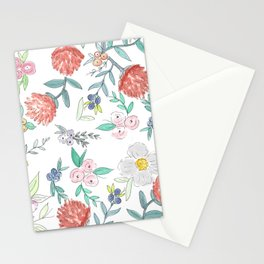 Floral Watercolor Pattern  Stationery Cards