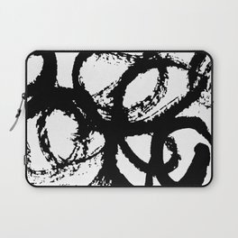 Dance Black and White Laptop Sleeve