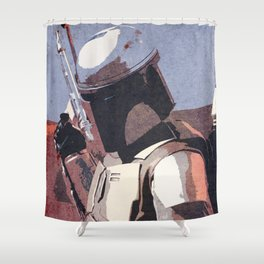 Bobba Fett | The Bounty Hunter | Star War Art Shower Curtain