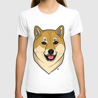shiba T-shirts featuring Shiba Inu by Bleachydrew