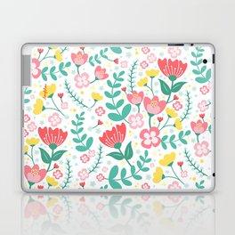 Flower Lovers - White Laptop & iPad Skin