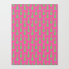 Pineapples - Pink & Green #464 Canvas Print