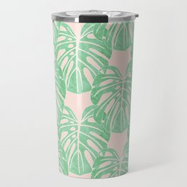 Monstera Pattern Travel Mug