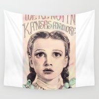 kansas Wall Tapestries featuring Not In Kansas Anymore by Ella Camporeale