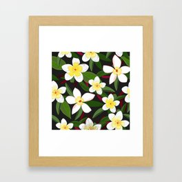 Botanical Flowers Colorful Pattern Framed Art Print