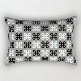 Geometric Pattern #87 (gray black loops) Rectangular Pillow