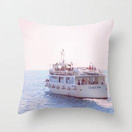 Italian Ferry Throw Pillow