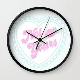 Not Yours K-12 Girl Wall Clock