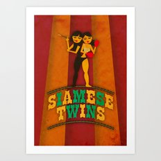 Siamese Twins Art Print