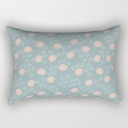 Yasmin: A Modern Floral Pattern Rectangular Pillow