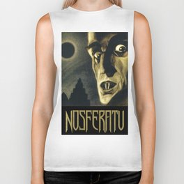 Nosferatu, Vintage Horror Movie Poster Biker Tank