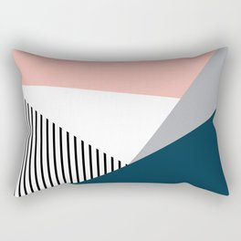 Colorful geometry 2 Rectangular Pillow