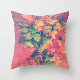 Candied Hydrangea Throw Pillow