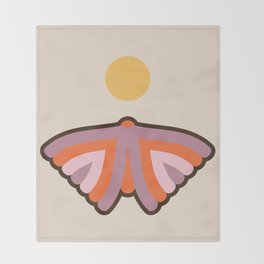 Moth Throw Blanket