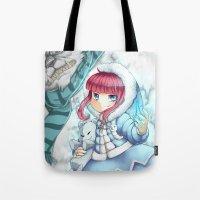 league of legends Tote Bags featuring League of legends Annie by Rikku Hanari