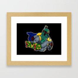 boba fett skaters Framed Art Print