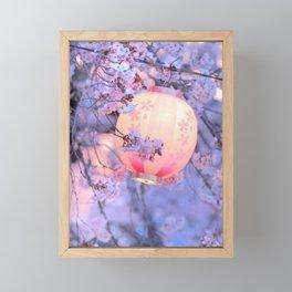 Lantern and cherry blossoms (Japan #1) Framed Mini Art Print