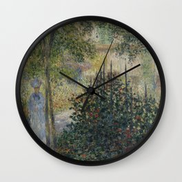 Camille Monet in the Garden at Argenteuil Wall Clock