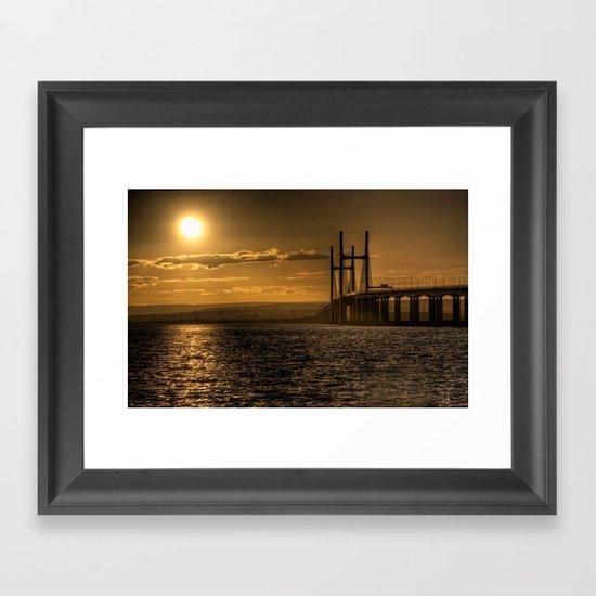 Severn Bridge Sunset  Framed Art Print