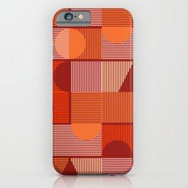 Geometrica Red iPhone Case