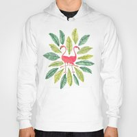 general Hoodies featuring Flamingos by Cat Coquillette