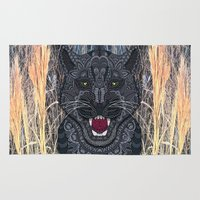 panther Area & Throw Rugs featuring Panther by ArtLovePassion
